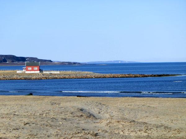 Veien mellom Vardø og Vadsø
