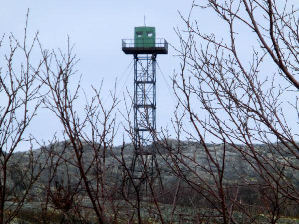 Vakttårn på russisk side