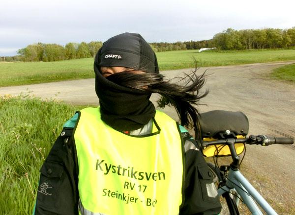 Det var mye vind i dag.