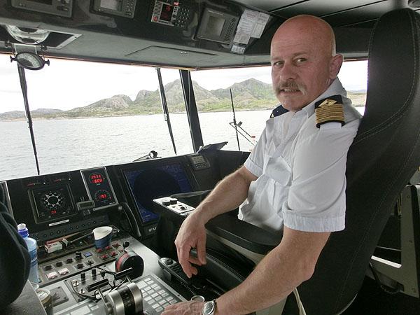 Kaptein på MS Foldafjord, Geir Olsen.