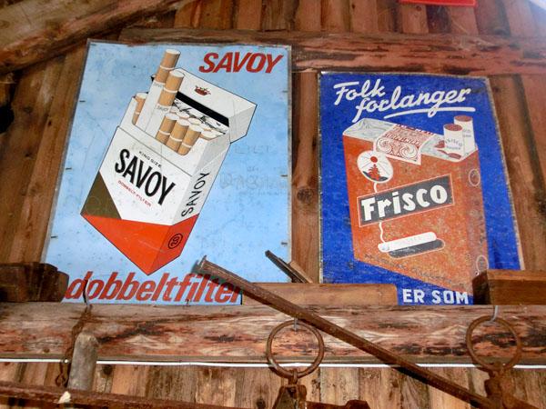 Før røykeloven - dvs lenge før røykeloven - var det lov å reklamere for tobakk.
