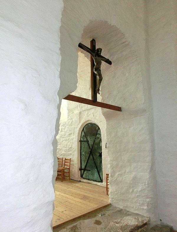 Bak denne døren ligger mausoleumet.