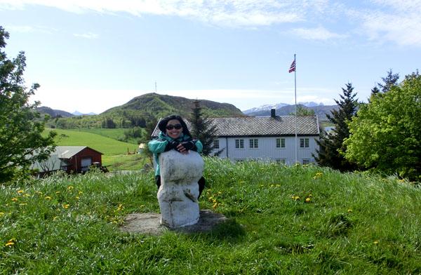 Maggie og Nord-Europas største steinfallos.