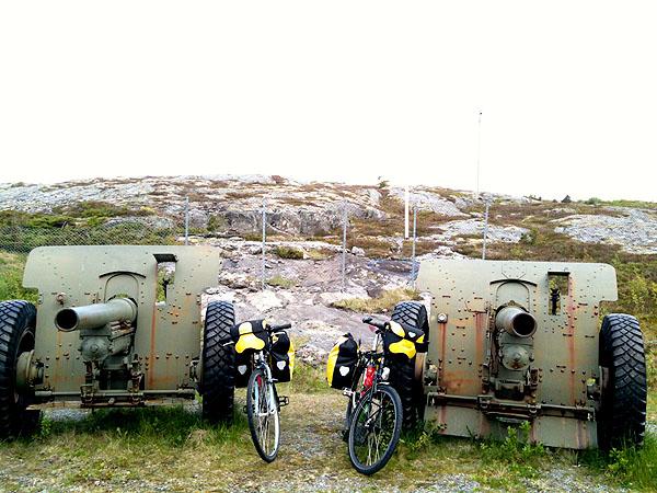 Framme ved Grønsvik Kystfort.