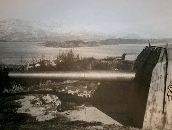 Et bilde fra den gang fortet var i aktiv tjeneste (2. verdenskrig)