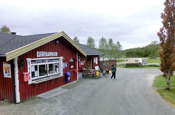 Servicebygget på Furøy Camping.