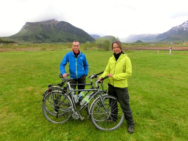 Jan Vereecke og Tania Verhoeve fra Belgia. Erfarne sykkelturister med mer enn 40 000 km under beltet.