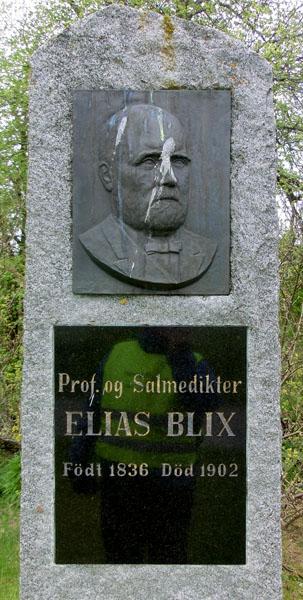 Fuglene ser ikke ut til å ha mye respekt for Elias Blix.
