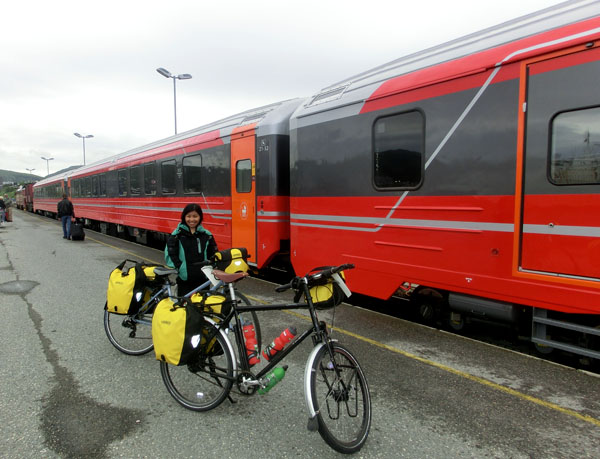 Hjemturen fra Bodø til Levanger tar vi med NSB.