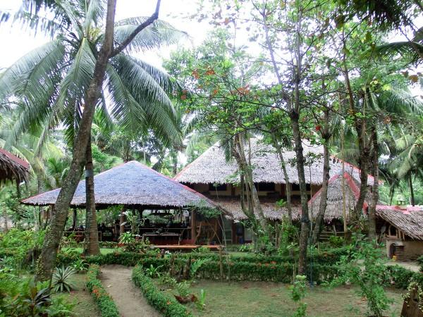 Restauranten og resepsjonsområdet