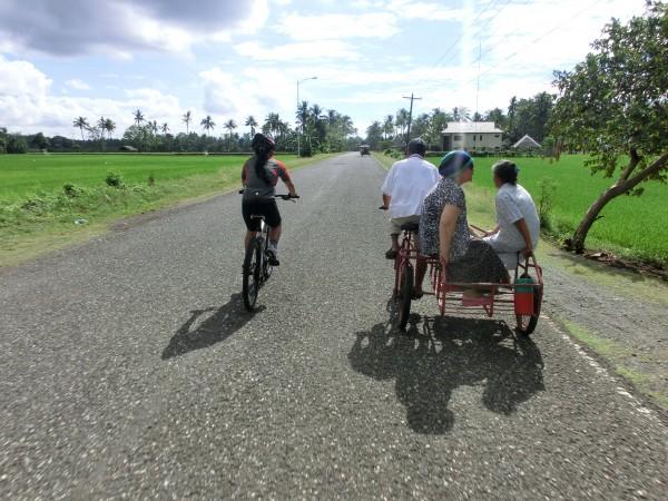 Selv om vi holdt et lavere tempo enn Tyskerne klarte vi å sykle forbi de syklistene vi møtte på veien :-)
