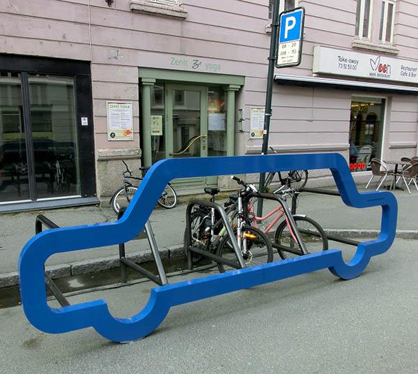 Sykkelparkering på Bakklandet