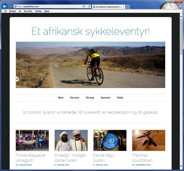 Sigrid Mogård skal sykle Tour d´Afrique og på bloggen hennes kan du følge turen