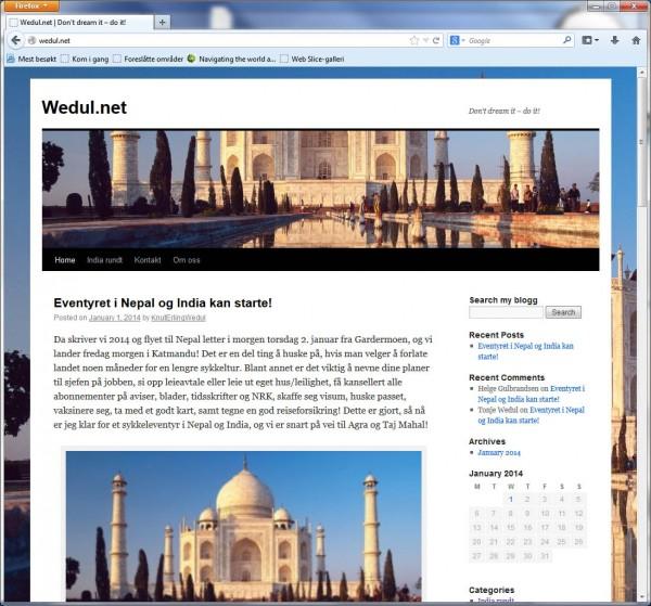 Knut Erling Wedul skal sykle rundt India og her på denne bloggen kan du følge turen