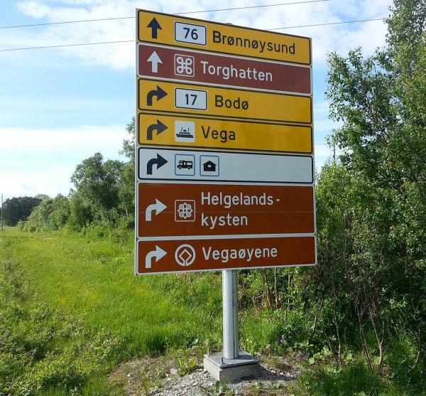 Straks fremme. Først skal vi ut til Campingen og deretter sørover til Torghatten.