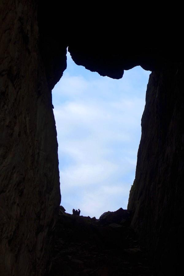 Hullet i Torghatten sett fra innsiden