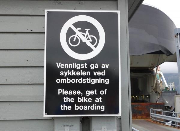 Bare å trille syklene ombord