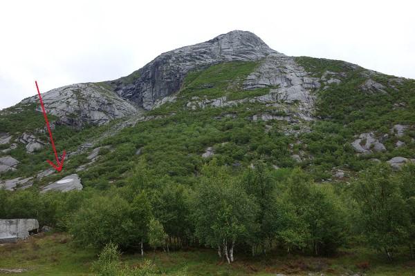Sirkelen på fjellsiden er en del av ...