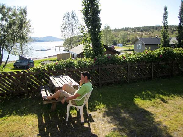 Framme på Furøy Camping