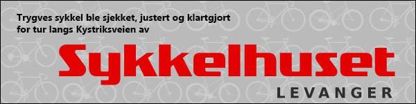 Trygve sykkel ble sjekket, justert og klargjort for tur langs Kystriksveien av Sykkelhuset Levanger