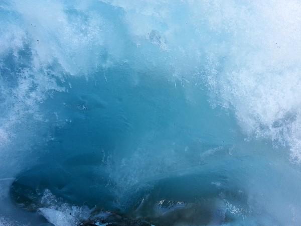 Den eldste delen av breisen er veldig blå i fargen