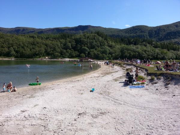 Stranda på Geitvågen Camping. Mer som i syden :-)