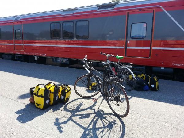 Turen er slutt og vi tar regiontoget hjem til Trøndelag