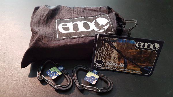 I dag kom pakken fra Blackleaf.com med ENO Atlas XL Suspensionsystem og to stk. ENO Standard Carabiner