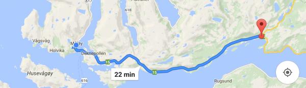 Jeg trodde RV15 inn til Måløy var rimelig flat. Det stemmer ikke.