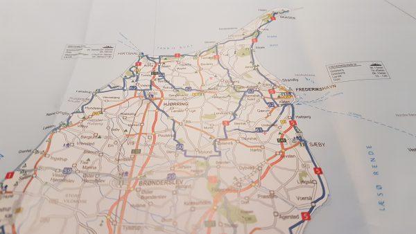 Jeg skal følge Sykkelrute 5 sørover langs østkysten av Jylland.