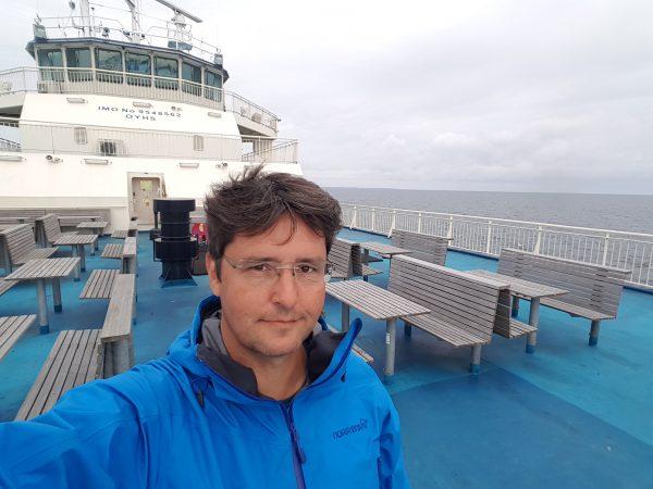 På vei fra Samsø til Kalundborg