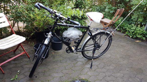 Sykkelen er nå ren og fin og klar for neste etappe